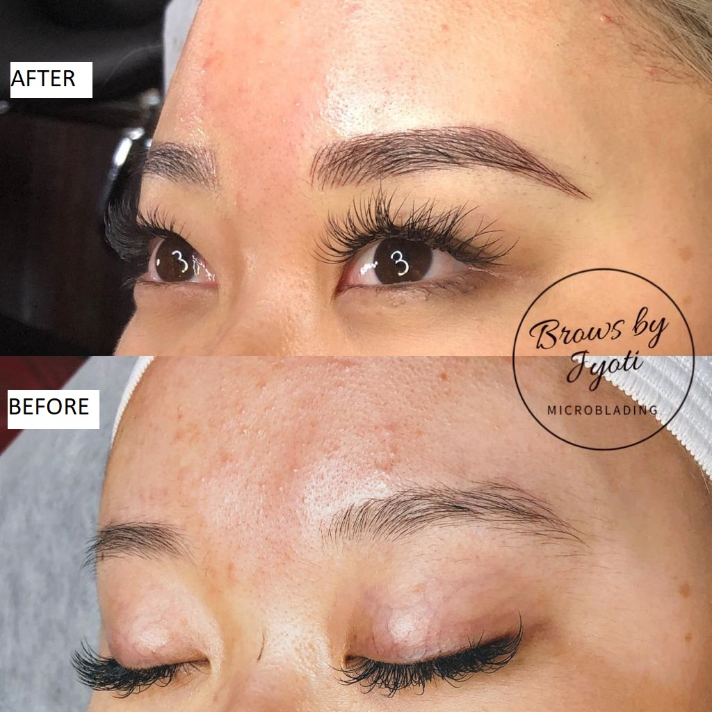 Microblading before and after1