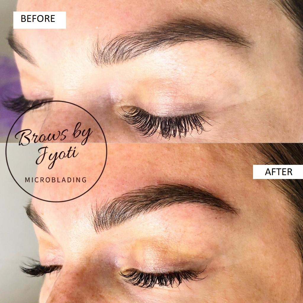 Microblading before and after3