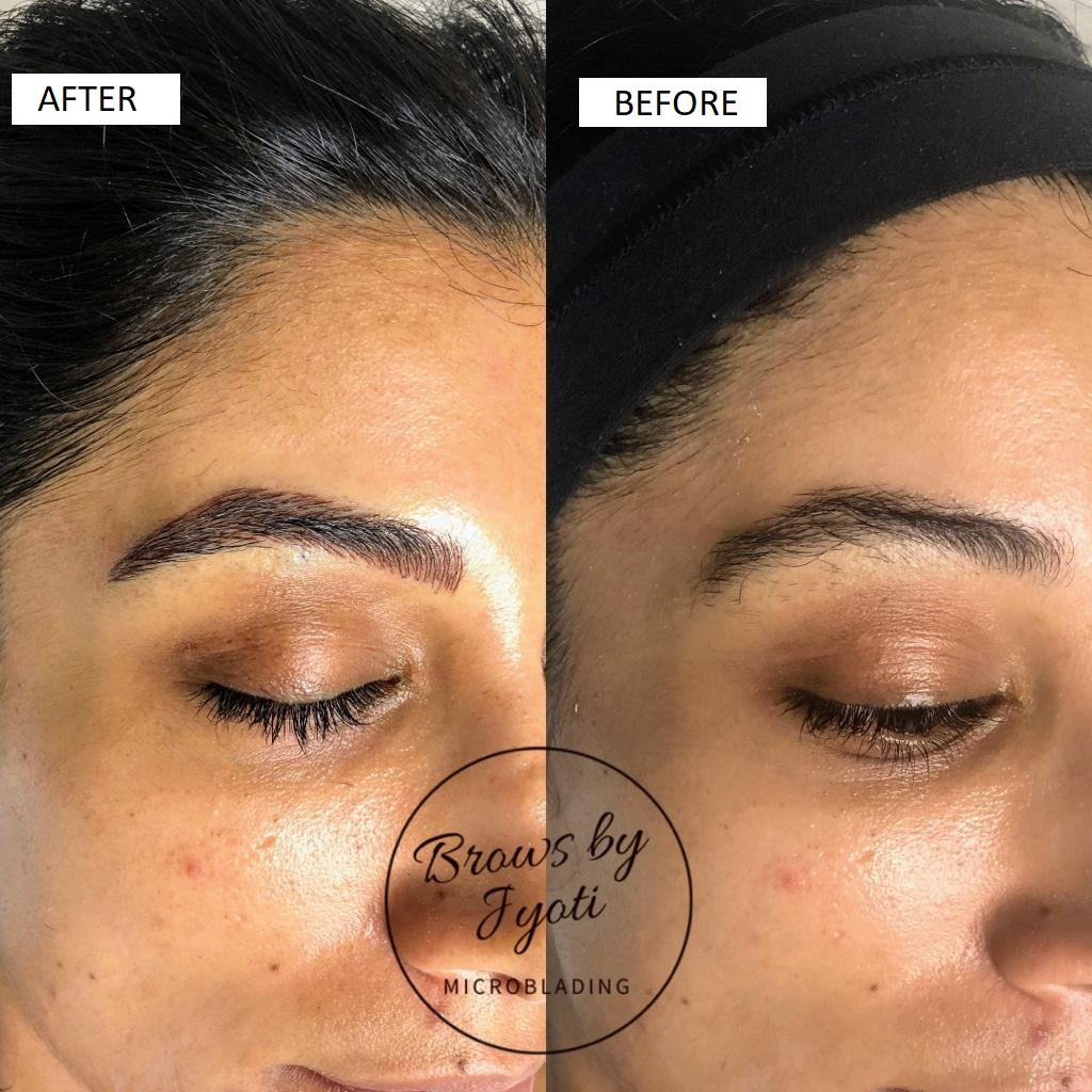 Microblading before and after4