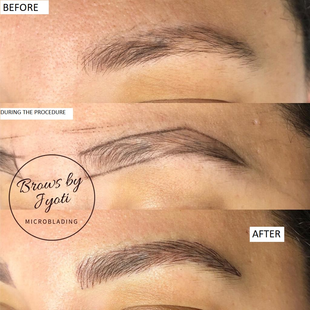 Microblading before and after5